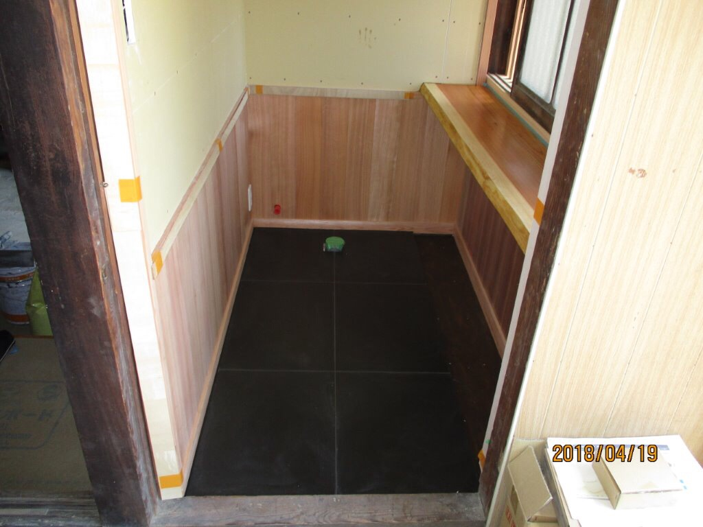 古民家改修工事  和モダン  トイレ